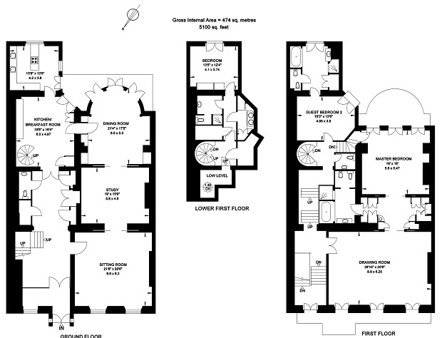 For sale three bedroom apartment hill street london for Apartment plans pdf