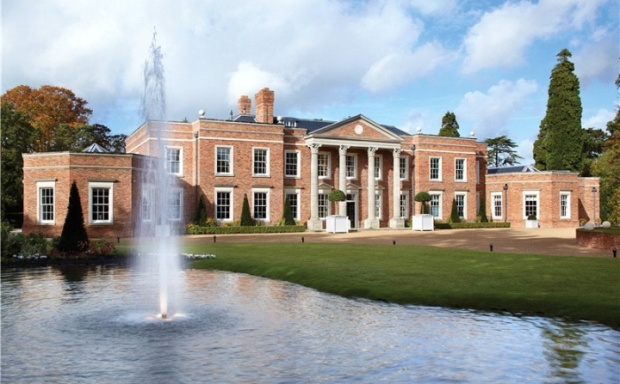 Windsor park hall majestic neoclassical mansion for sale for Castle mansions for sale